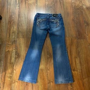 Beautiful Miss Me easy boot jeans, like new